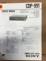 Sony CDP-991 Service Manual *Original* - $8.60