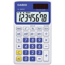 Casio Solar Wallet Calculator With 8-digit Display (blue) - $12.03