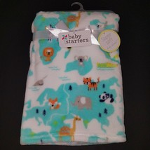NEW Baby Starters World Animals Fleece Blanket Lovey Panda Koala Fox Zebra Whale - $29.65