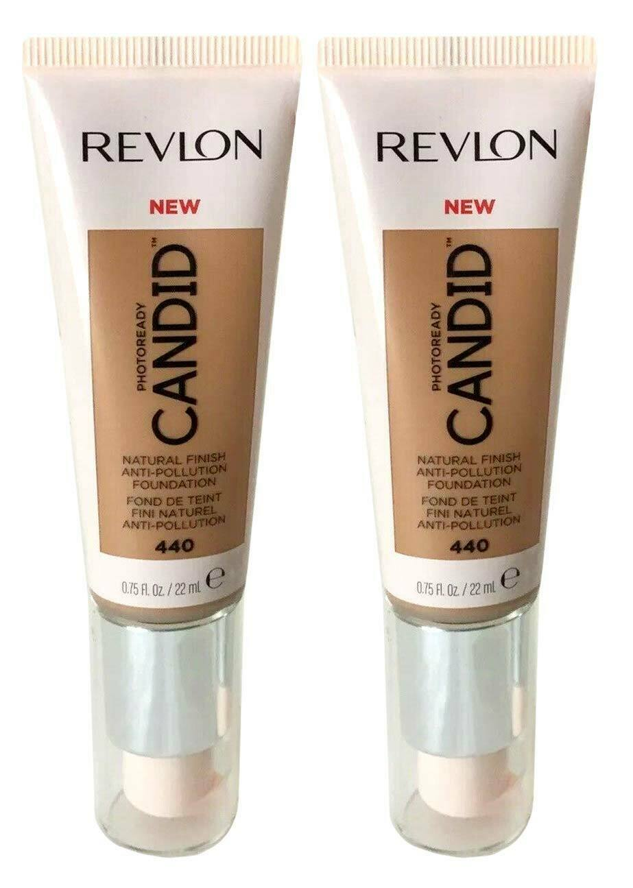 Primary image for Lot of 2, Revlon PhotoReady Candid Anti-Pollution Foundation 440 Caramel