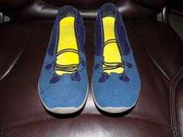Lands' End Blue Suede Shoes Sandals Slip on leather Flats Size 9B Women... - $22.41
