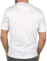 Ruthless Art Forever King Skull Tattoo Tee White With Red Gems Encrusted T-shirt image 2