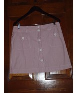 Vineyard Vines Size 8 Womens Red and White Striped Skirt Nautical - $20.82