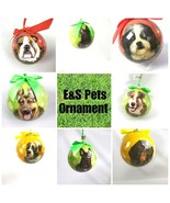 Pet Dog Puppy Christmas Ornament Shatter Proof Ball Easy To Personalize ... - $8.32
