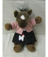 "Stuffed Animal Horse 16"" Tall Stuffed Fabric - $4.40"