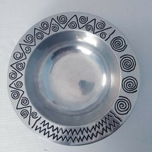 "Wilton Armetale REGGAE Large Serving Bowl Pewter 11"" Geometric Holiday D... - $19.24"