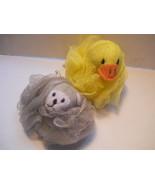 mom to mom Soap Buddies Bath Wash Kids Children Bear & Chick Nylon Set - $3.99