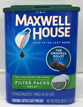 Maxwell House Coffee Decaf Original Filter Packs 10 ct  Decaffeinated - $8.45