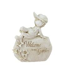 Northlight 7.5IN Garden Kids Ivory INWelcome To My GardenIN Patio Garden... - $16.57