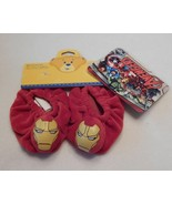 NEW Build A Bear Shoes Marvel Avengers Iron Man Slippers NWT - $24.99