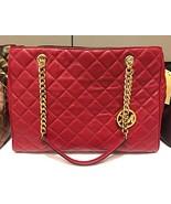 Michael Kors Susannah Large Cherry Leather Tote Bag 35F6GAHT3L - $250.99