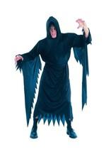 DEMON/SCREAM, HALLOWEEN FANCY DRESS COSTUME, BLACK ROBE #US - $17.95