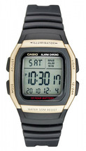 Casio W-96H-9A Men's Black Resin Band Chronograph Alarm LCD Watch - $31.75