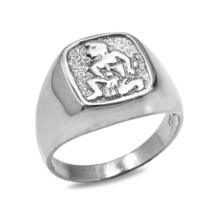 Sterling Silver Aquarius Mens Zodiac Sign Ring - £35.86 GBP