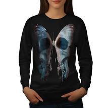 Butterfly Skull Face Jumper Bone Bug Women Sweatshirt - $18.99