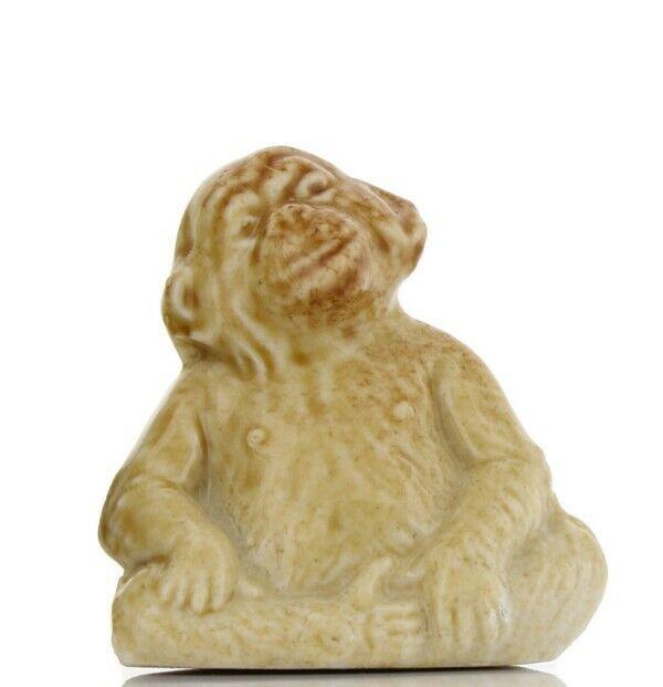 Wade Whimsies Porcelain Miniatures by Wade Scarce Honey Glaze Chimpanzee Monkey