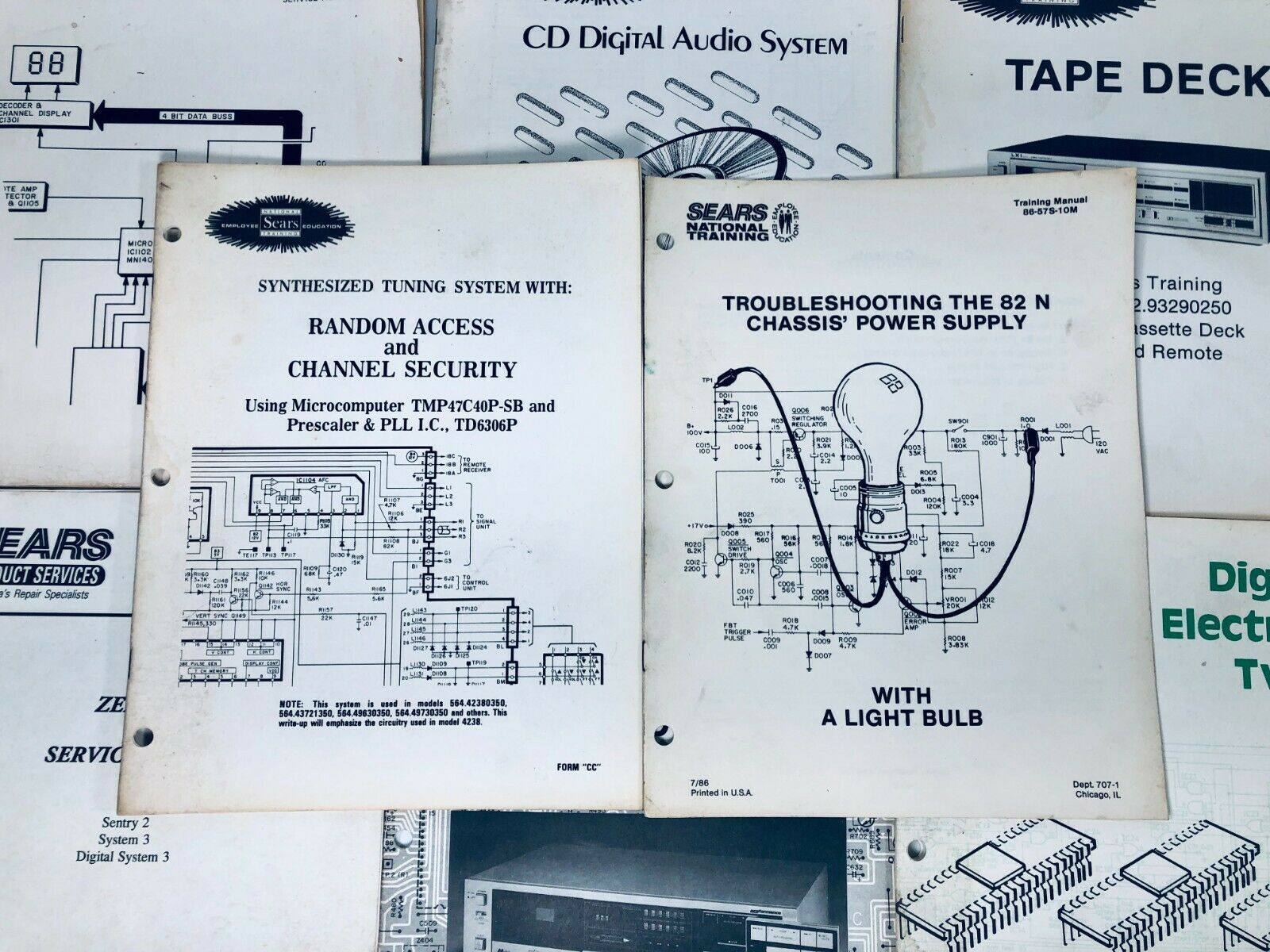 Sears Zenith Service Menus - Electronic Tuning Systems Employee Service Manuals - $29.65