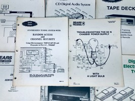 Sears Zenith Service Menus - Electronic Tuning Systems Employee Service ... - $29.65