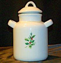 Christmas Double Handle Ceramic Cookie Jar w Lid Item # 252 1P1 AA-191963  Colle image 8