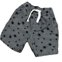 First Wave Boys Shorts 12 Month Infant Blue White Stars Stripes Patrioti... - $5.69