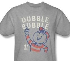Dubble Bubble T-shirt retro 1980's vintage distressed heather grey tee DBL105 image 1