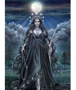 FULL COVEN 27X GREAT GODDESS TRIPLE MOON WORK MAGICK W/ JEWELRY Witch Ca... - $38.00