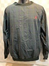 POLO GOLF Ralph Lauren Pull Over Green Blue Plaid Jacket Men's Size M - $24.74
