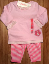 Girl's Size 6 M 3-6 Months 2 Piece Carter's Pink Bunny NWT Top, Neon Bun... - $8.00