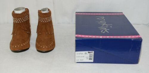 I Love Yo Kids AVA 78K Girls Fringe Boot Rust Silver Studded Size 11