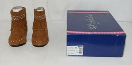 I Love Yo Kids AVA 78K Girls Fringe Boot Rust Silver Studded Size 11 image 1