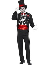 Tag der Toten Kostüm, Schwarz, Halloween Kostüm ,Brust 107cm-112cm, Herren - $57.78