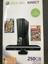 Microsoft Xbox 360 Black 250 GB w/ Kinect Bundle NEW Sealed - $313.83