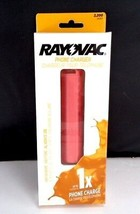 Rayovac Emergency Rechargeable Portable 2200 mAh Phone Charger Pink Coral Nimh - $12.46