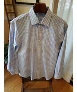 Brooks Brothers 16 1/2 -34 Regent Dress Shirt 100% Cotton White Blue Blo... - $19.34