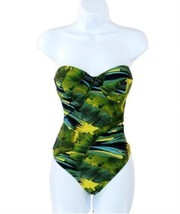 J Crew Jungle Print Underwire One-Piece Swimsuit Bathing Suit Small  C4570 6 - $32.19