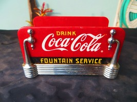 Drink COCA-COLA Fountain Service 1977 Knapkin Holder - $18.00