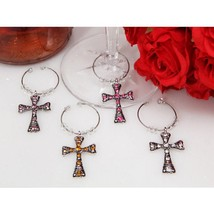 Dazzling Cross Wine Charms - 24 Sets - $90.95