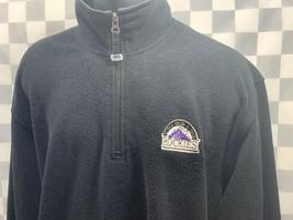 Colorado ROCKIES Baseball MLB Fleece Pullover Sweater Jacket 1/4 Zip Siz... - $13.36