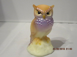 "FENTON ART GLASS 2016 GSE OPAL SATIN OWL FIGURINE ""FRECKLES"" #7/12 ~F. B... - $225.00"