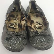 Sam Edelman Ballet Flats Beatrix Women's Sz 4.5 Leather Stud Shoes Bow P... - $29.98