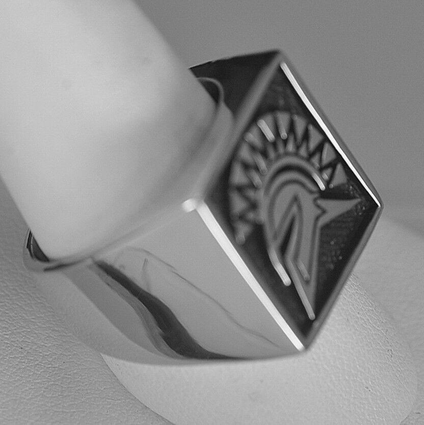 Trojan Soldier Warrior SPARTAN gladiator Head Sterling Silver .925 ring Jewelry
