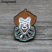 L690 Stephen Clown Metal Brooches and Pins Enamel Pin for Backpack/Bag/C... - $11.99