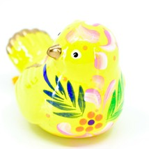 Handcrafted Painted Ceramic Yellow Canary Songbird Confetti Ornament Made Peru image 2