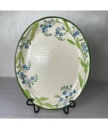 "Franciscan Forget Me Not Pattern 13-7/8"" Oval Serving Platter Green Blue... - $61.37"