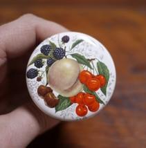 Vintage Victorian Style Fruit Gold Rim Porcelain Cork Wine Stopper UNUSED - €24,51 EUR