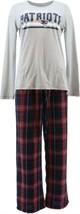NFL Women's Pajama Set Long Slv Top Flannel Pants Patriots XL NEW A387687 - $30.67