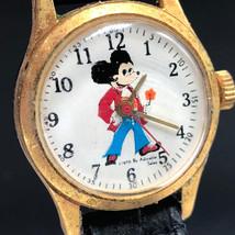 Walt Disney Wristwatch Vintage Retro Watch 1970 Adorable Sales Mickey Mouse Rare - $47.52