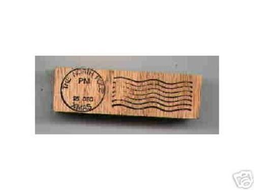 North Pole Postmark Dec 25 rubber stamp christmas Xmas - $13.61