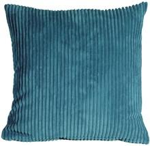 Pillow Decor - Wide Wale Corduroy 18x18 Marine Blue Throw Pillow - $39.95