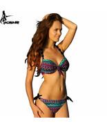 EONAR Bikinis Women 2017 Print Floral Swimsuits Push Up Bikini - $23.72+